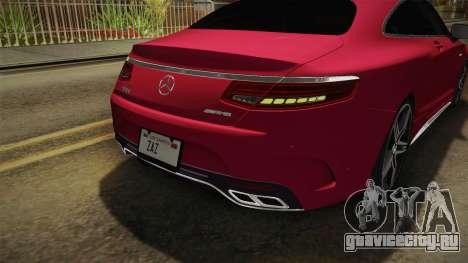 Mercedes-Benz S63 AMG Coupe 2015 v2 для GTA San Andreas колёса