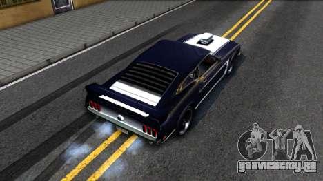 Ford Mustang Boss 557 для GTA San Andreas вид сзади
