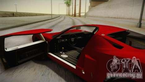 Ford GT40 TwinTurbo для GTA San Andreas вид изнутри