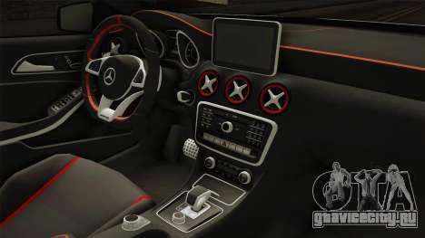 Mercedes-Benz A45 AMG 4Matic 2016 для GTA San Andreas вид изнутри