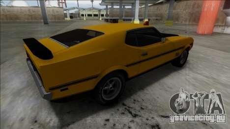 1971 Ford Mustang Mach 1 для GTA San Andreas вид слева