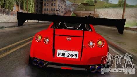 Nissan GT-R SR PRO для GTA San Andreas вид сзади