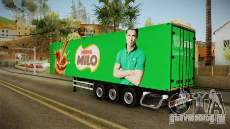 Nestle Milo Trailer для GTA San Andreas вид слева