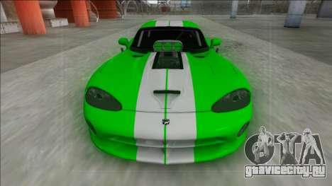 Dodge Viper GTS Drag для GTA San Andreas вид справа