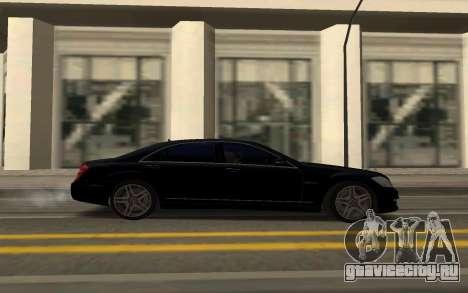 Mercedes-Benz S65 AMG для GTA San Andreas вид сзади слева