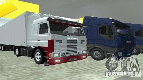 Scania 143M для GTA San Andreas салон