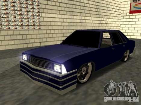 Chevrolet Malibu 1980 V3 Super Tuning Blue для GTA San Andreas вид сбоку