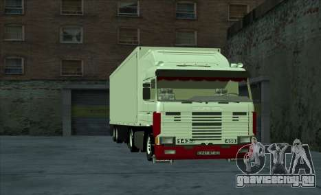 Scania 143M для GTA San Andreas вид изнутри