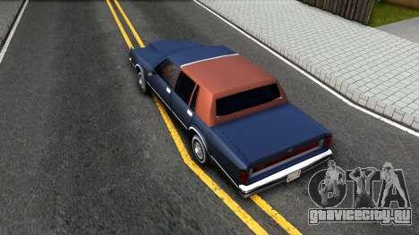 Lincoln Town Car 1981 для GTA San Andreas вид сзади