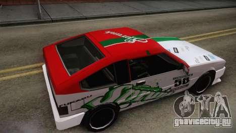 Grottti Blistac Sprunk для GTA San Andreas вид справа