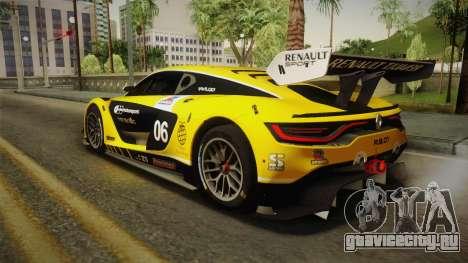 Renault Sport R.S.01 PJ1 для GTA San Andreas вид снизу