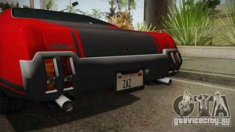 GTA 5 Declasse Sabre GT SA Style для GTA San Andreas вид изнутри