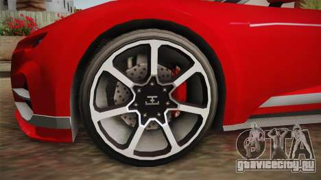 GTA 5 Truffade Nero Spyder для GTA San Andreas вид сзади