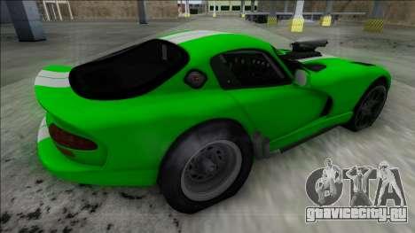 Dodge Viper GTS Drag для GTA San Andreas вид слева