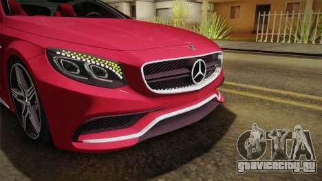 Mercedes-Benz S63 AMG Coupe 2015 v2 для GTA San Andreas вид сверху