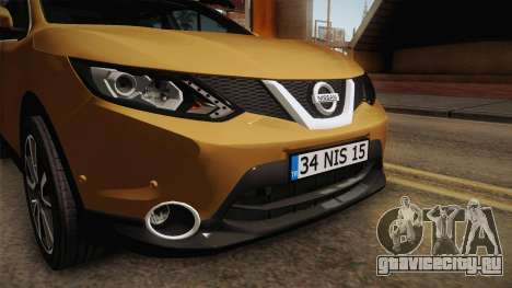 Nissan Qashqai 2016 IVF для GTA San Andreas вид сверху