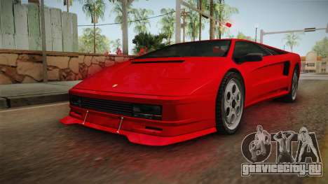 GTA 5 Pegassi Infernus Classic SA Style для GTA San Andreas вид сзади слева