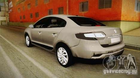 Renault Fluence 2016 для GTA San Andreas вид слева