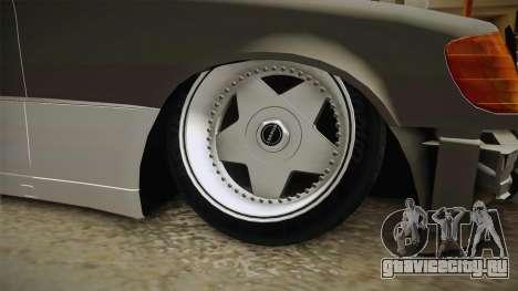 Mercedes-Benz 500SE 1991 Euro-Rat Style для GTA San Andreas вид сзади