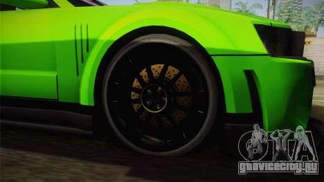 Ford Mustang NFS Green для GTA San Andreas вид справа