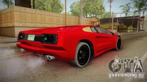 GTA 5 Pegassi Infernus Classic Coupe для GTA San Andreas вид слева