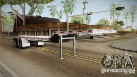 American Flatbed (Multiple) Trailer для GTA San Andreas вид справа