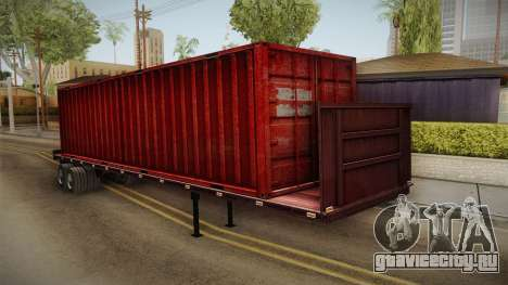 Red Trailer Container HD для GTA San Andreas