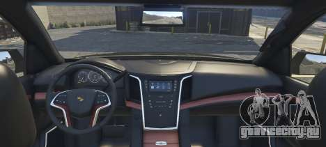 Cadillac Escalade FBI для GTA 5 вид сзади слева