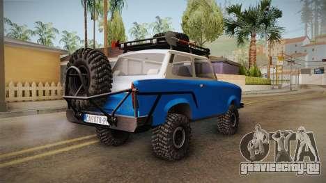 Trabant 601 4x4 Off Road для GTA San Andreas вид справа