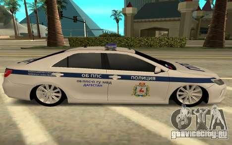 Toyota Camry Police для GTA San Andreas вид слева