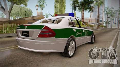 Mercedes-Benz E500 Iranian Police для GTA San Andreas вид сзади слева