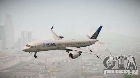 Boeing 757-200 United Airlines для GTA San Andreas вид сзади слева