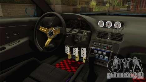 Nissan 180SX RPS13 Type-X для GTA San Andreas вид изнутри