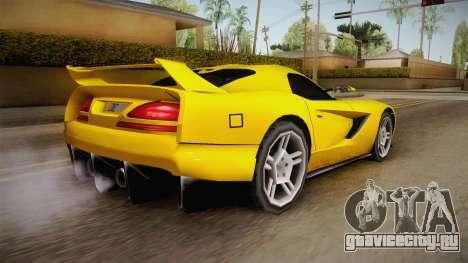 Jersey XS SA Style для GTA San Andreas вид слева