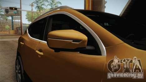 Nissan Qashqai 2016 IVF для GTA San Andreas вид снизу