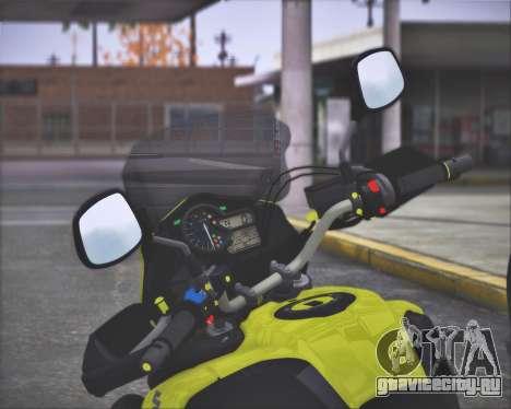 SUZUKI V-STROM 1000 для GTA San Andreas вид сзади