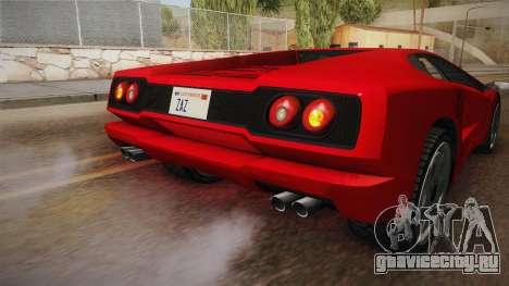 GTA 5 Pegassi Infernus Classic SA Style для GTA San Andreas вид сверху