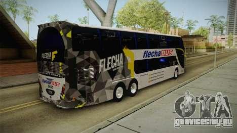 Starbus 2 Flecha Bus Egresados для GTA San Andreas вид сзади слева