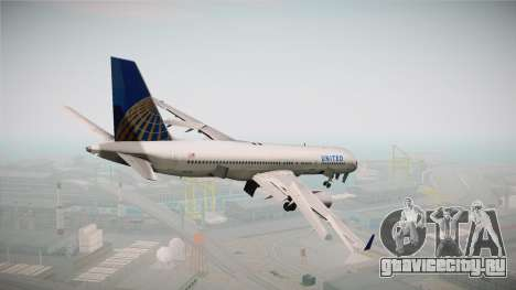 Boeing 757-200 United Airlines для GTA San Andreas вид слева