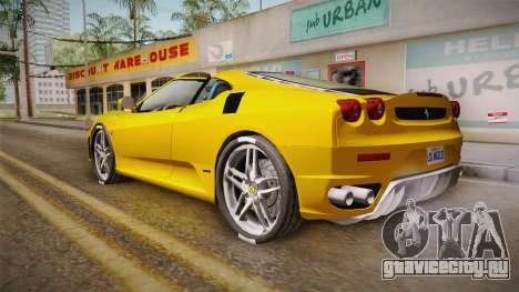 Ferrari F430 Spyder для GTA San Andreas вид слева