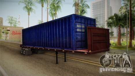 Blue Trailer Container HD для GTA San Andreas вид справа