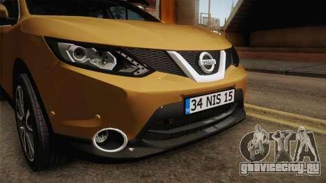 Nissan Qashqai 2016 IVF для GTA San Andreas вид сбоку