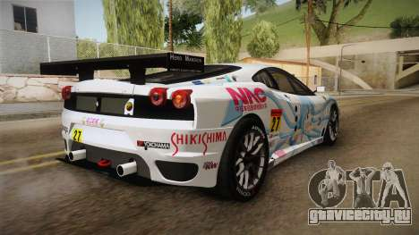 Ferrari F430GT 2010 27 Pacific Racing для GTA San Andreas