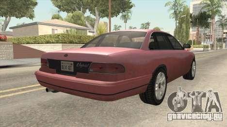 GTA 5 Vapid Stanier SA Style для GTA San Andreas вид сзади слева