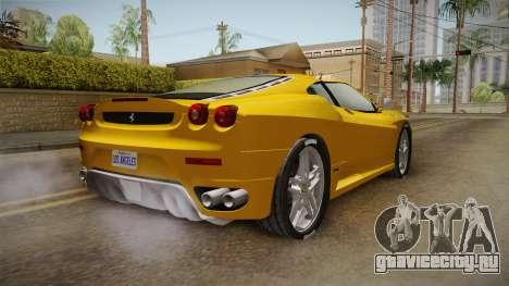 Ferrari F430 Spyder для GTA San Andreas вид сзади слева