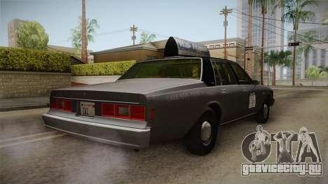 Chevrolet Impala Taxi 1985 для GTA San Andreas вид справа