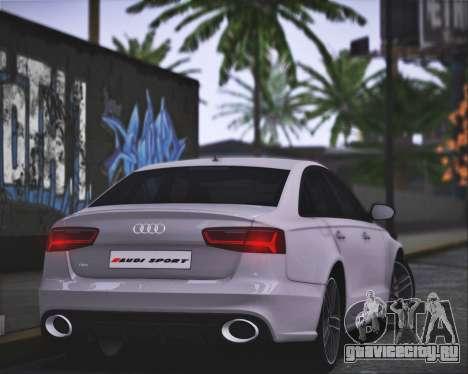 Audi RS6 2016 для GTA San Andreas вид сзади слева