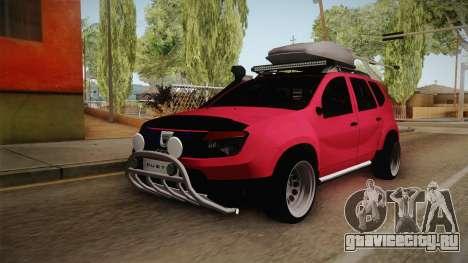 Dacia Duster Offroad для GTA San Andreas вид сзади слева