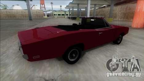 Dodge Charger RT Cabrio для GTA San Andreas вид слева