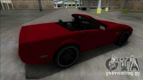 1996 Chevrolet Corvette C4 Cabrio для GTA San Andreas вид слева